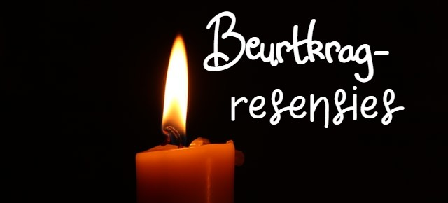 Candle with text.